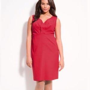 NWT Tahari 'Jill' Red Sleeveless Sheath Dress